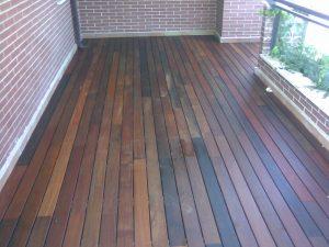 terraza de madera de exterior tropical de ipe macizo