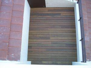 Terraza de tarima de madera exotica de ipe de exterior