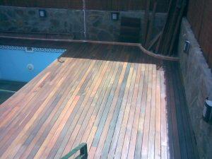 Instalacion en Serranillos del valle de tarima